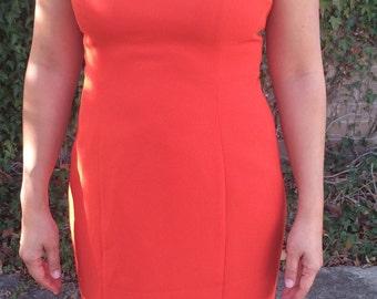 Burnt Orange Sleeveless Dress, 90's Style, Size 10-12, M-L
