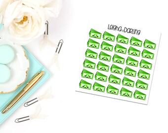 Kawaii Dollar Bill Planner Stickers
