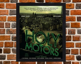 Framed Holy Motors Cult Movie / Film Poster A3 Size Mounted In Black Or White Frame