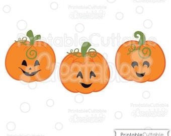 Cute Jack O Lanterns SVG Pumpkins Cut File & Clipart E198 - Includes Limited Commercial Use!