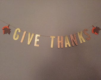 Thanksgiving 'Give Thanks' Banner