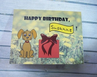 Personalized greeting card with dog
