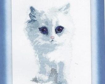 Cross Stitch Kit White cat
