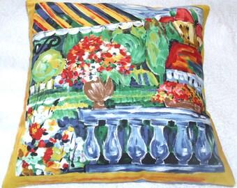 St Tropez on the balcony cushion