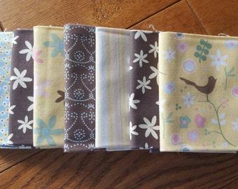 SALE / 7 Fat Quarters / Cotton Fabric / 1 repeat / 1.75 yards / #068