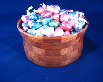Hand Made Bowl, Segmented Bowl, Hand Made Wood Bowl, Walnut Bowl number 83