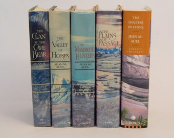 The Clan of the Cave Bear First Five Earth's Children Set Jean M. Auel 1st Editions Hard Covers 1980 - 2002