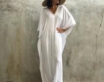 White Kaftan Maxi dress,Naomi, sequin,resort wear,elegant,swim cover, beach dress,evening dress,caftan,sequin, gold, luxury