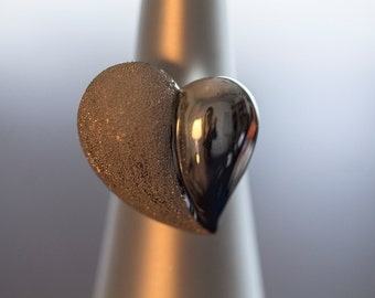 50% Sale- 9.50 Silver Heart Ring