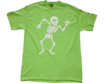 Happy Skeleton Kids T Shirt. New!