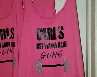Girls Just Wanna Have Fun Racerback Tank Top