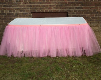 Tulle Ruffle table skirt Tulle Tutu Table Skirts,Candy Buffet Skirt