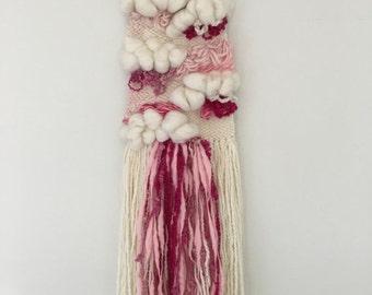 ON SALE Sweet Pink Weaving Wall Hanging