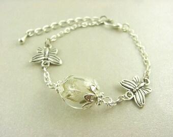 Bracelet - Flower - Butterfly
