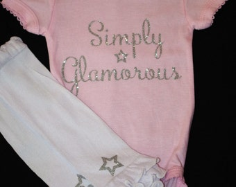 Simply Glamorous Baby Onesie and Leg Warmers