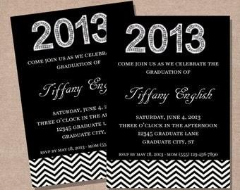 Graduation Party Invitation - Graduation Announcement - Printable Graduation Party Invitation