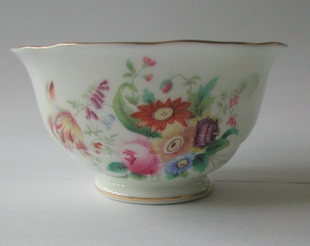Vintage English Coalport Bone China Junetime Flowers Sugar Bowl