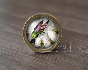 Hummingbird—Handmade Vintage Antique Drawer Knobs Pulls Handles/Dresser Knobs Cabinet Pull handles / Furniture Hardware