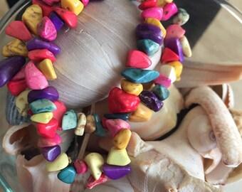 Multicolored stone kids bracelet