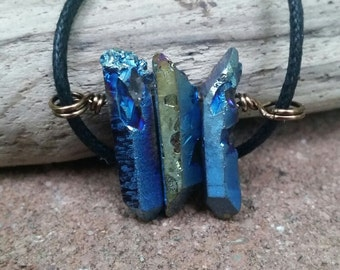 Titanium Aura Quartz Necklace