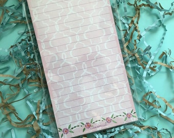 Pink list note pad