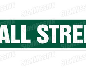 WALL STREET Street Sign nyse stock broker trader gift