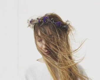 Purple Patch - Dried Flower Crown