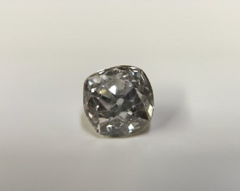 Stunning, Fiery Old Mine Cut Diamond, 0.65 Carat, Approximate F-G Color, Approximate Clarity SI1-SI2! Excellent Color Grade!