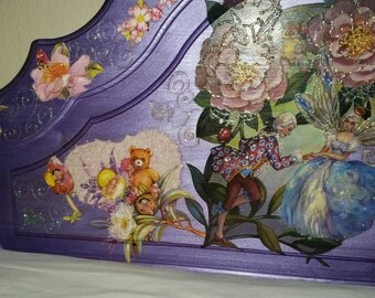 headboard for single bed. hand painted