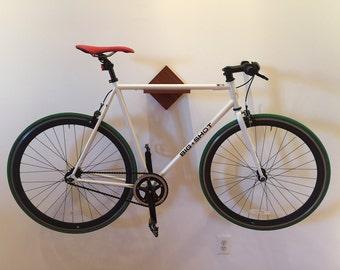 Bike Rack Shelf - Mahogany - Wall Mount
