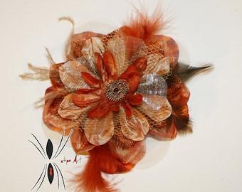 Fifties / Steampunk hair flower, flower for hair 50 years / Steampunk. Pin-up. Katipo Art