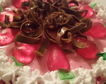 Cake SOAP Strawberry and chocolate