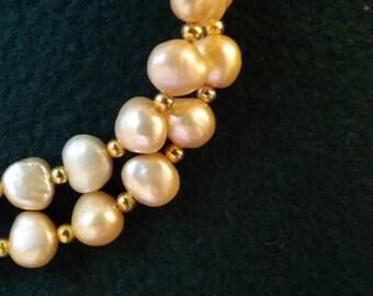 Gold Freshwater Pearl Bracelet