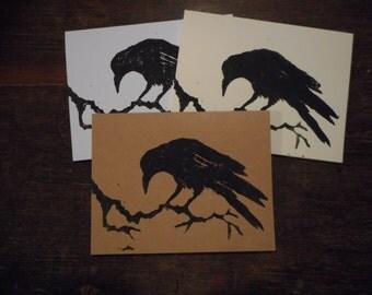Raven print card