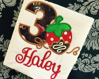 Chocolate Dipped Strawberry Birthday Shirt