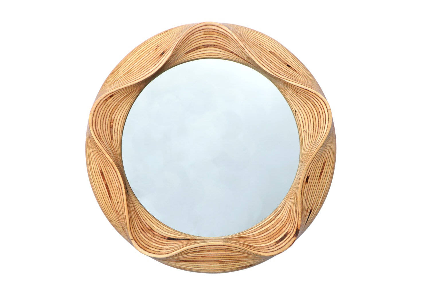 Round wall mirror wooden decorative mirror for bathroom for Round wood mirror