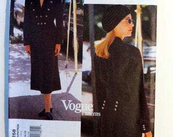 Vogue American Designer DKNY Pattern 1258 Jacket and Skirt Size 12-14-16.