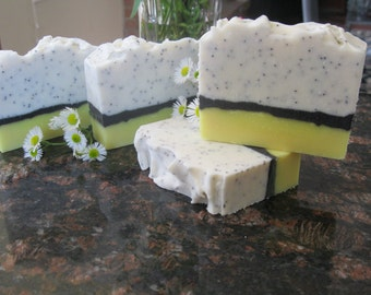 Lemon Poppyseed - Handmade Soap - Organic Artisan Soap – Natural Vegan Soap - Bath & Beauty
