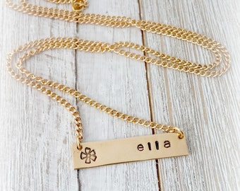 Personalized Name Necklace, Gold