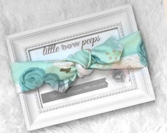 Mint blossom headwrap