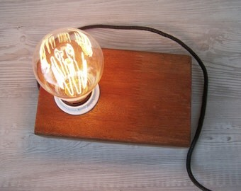 Jarrah wood block lamp