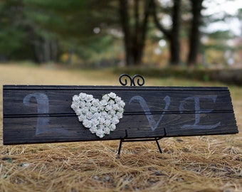 Hand Painted Love Wooden Sign - Wedding Gift