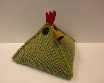 Hand Knitted Chicken Doorstop