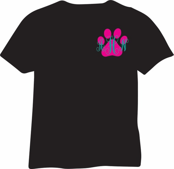 Personalized Paw Print T-Shirt