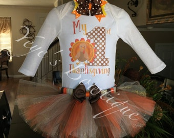 My First Thanksgiving Tutu Outfit | My 1st Thanksgiving