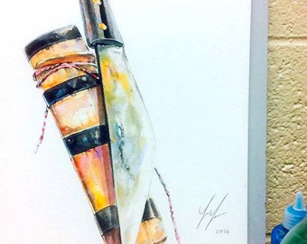 Hmong Art Painting, Knife, Watercolor, Pastel