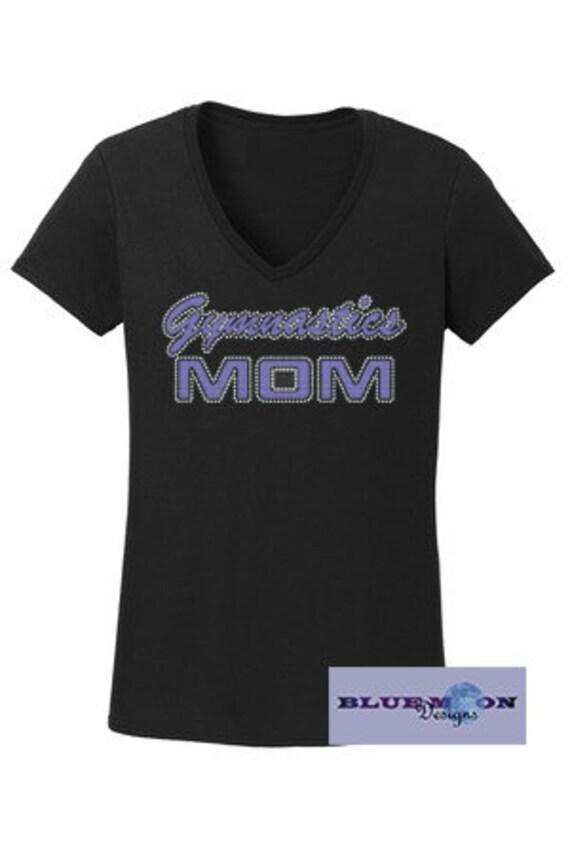 Gymnastics Mom Rhinestone T-Shirt Made to order