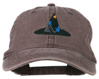 Halloween Wizard Hat Embroidered Cap
