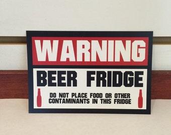 WARNING BEER FRIDGE Magnet