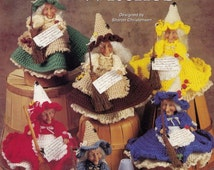 Kitchen Witches, Crochet Pattern Booklet The Needlecraft Shop 981016 Home Decor Doll Clothes RARE & HTF